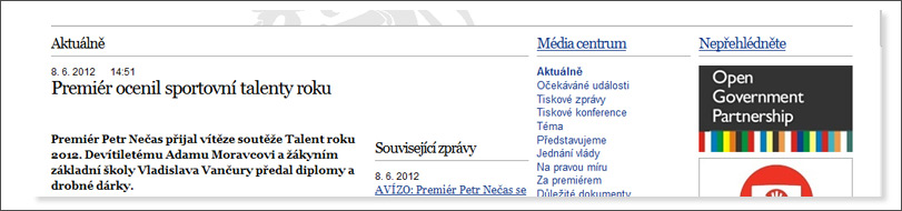 Napsali o nás - Vláda.cz
